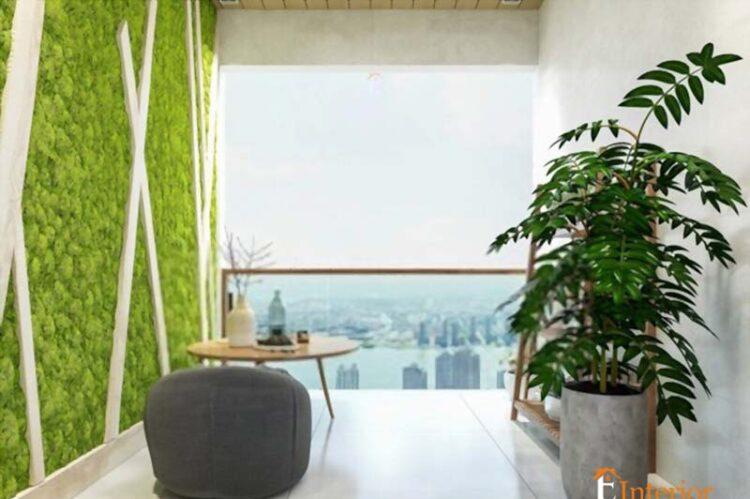 Balcony Décor Balcony Area Ceiling Grass Design In Balcony