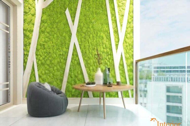 Balcony Decoration Artificial Grass Design In Balcony