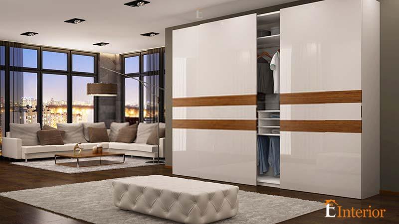 Wardrobe Cupboard Design For Children's Bedroom With Sliding Door
